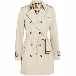 BURBERRY Mid-Length Gabardine Trench Coat US Sz 2